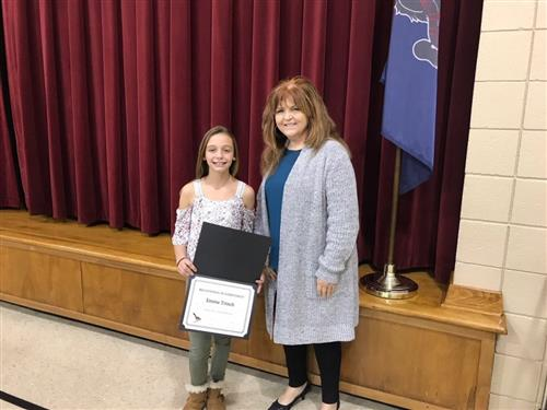 Emma Trinch, sixth grade student at Valley Grove Elementary School