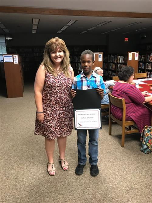 Julian Johnson, Valley Grove Elementary School fourth grade student
